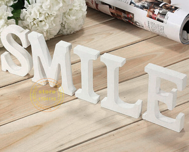 10cm wedding artificial wood letters pure white wooden letters zakka letters home decoration birthday wedding decoration