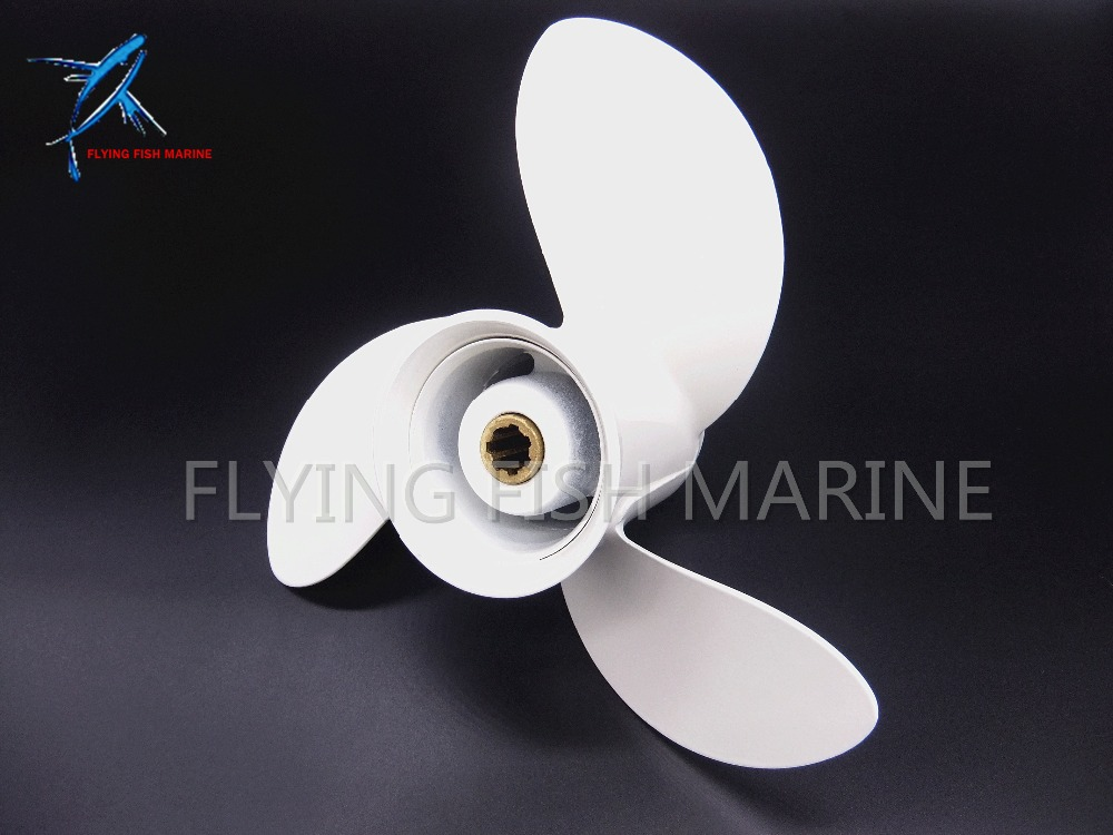 8 1/2 x 8 1/2 -N Outboard Aluminum propeller for Yamaha 6hp 8hp 9.9hp F6 F8 F9.9 Boat Engines 6G1-45941-00-EL 8 1/2x8 1/2 -N boat engines 2e