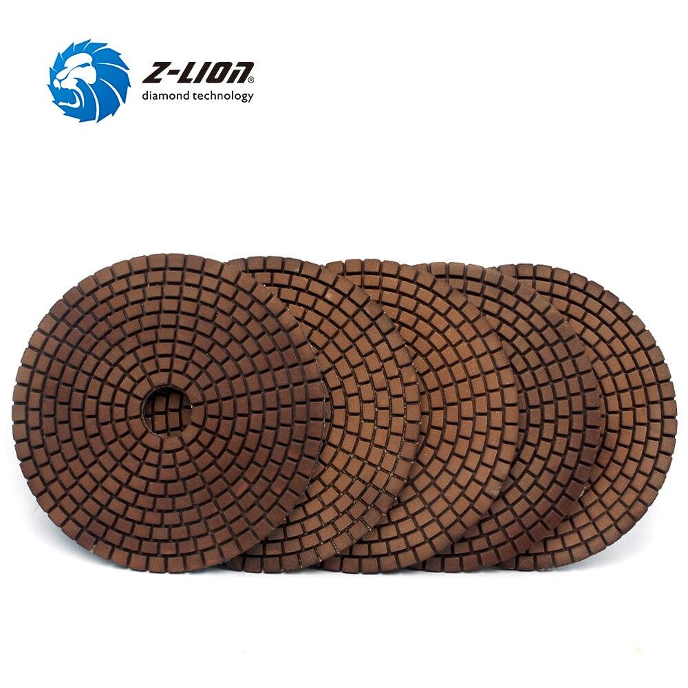 Z LION 5 5 Pcs Diamond Polishing Pad Metal Copper Filling Grinding Disc Wet Use Diamond