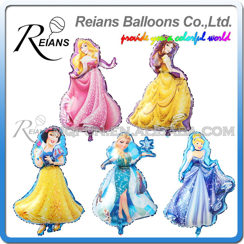 Wholesales 100pcs lot Large Cartoon Princess Cinderlla Belle foil balloons snow white kids Holiday Birthday wedding