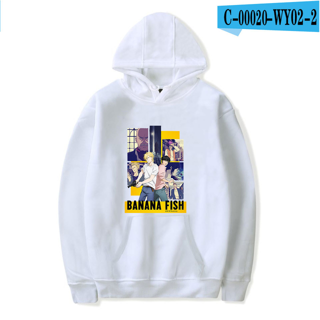 Aikooki Banana Fish anime Print Hoodie Men Women popular Harajuku Casual Hot Sale Banana Fish Hoodies soft sweatshirt