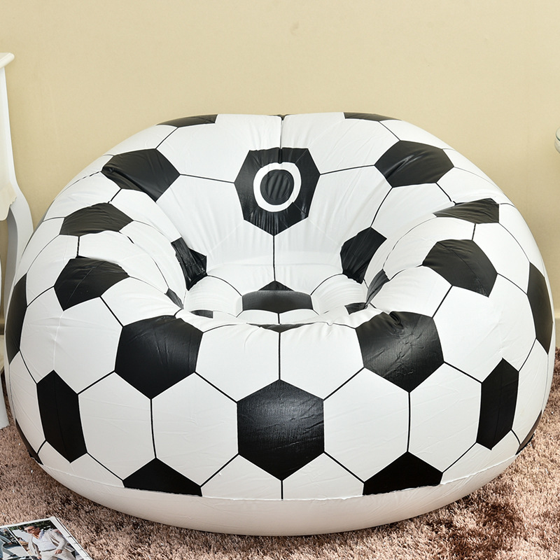 Fashion Fast Football Air Sofa Inflatable Lazy Bean Bag Folding Portable Chair For Kids Adults Harmless To Healthy