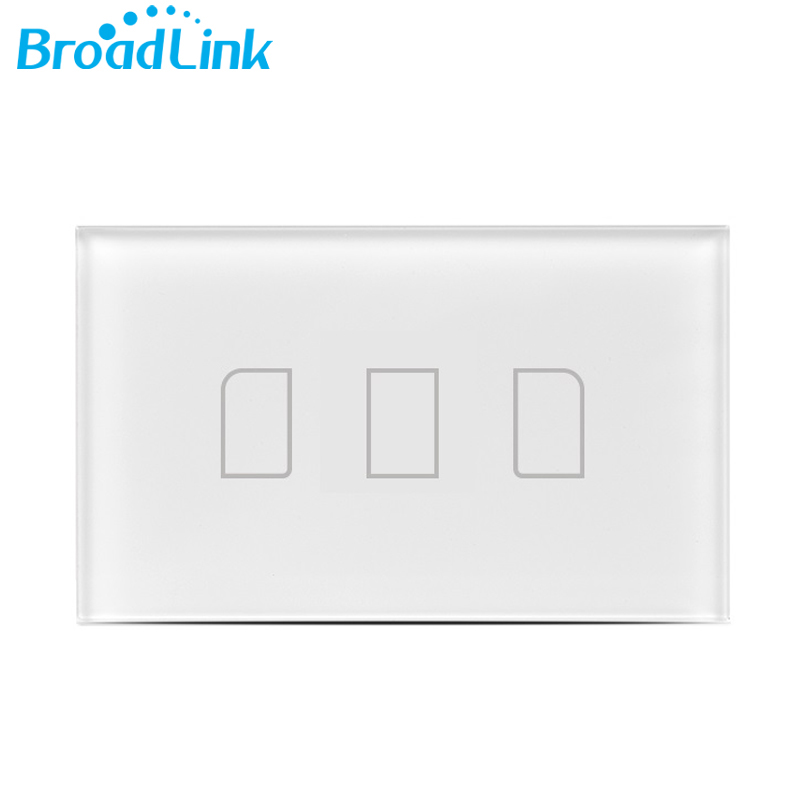 Broadlink TC2 3Gang US Standard Mobile Remote Control Touch Wall Light Switch by Broadlink RM2 RM