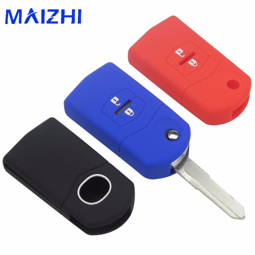 цена на Kutery Silicone Rubber 2 Buttons Remote Car Key Case Fob For Mazda CX-5 CX5 CX-7 CX7 3 2 6 Atenza CX-9/CX9 MX5 Key Case Cover