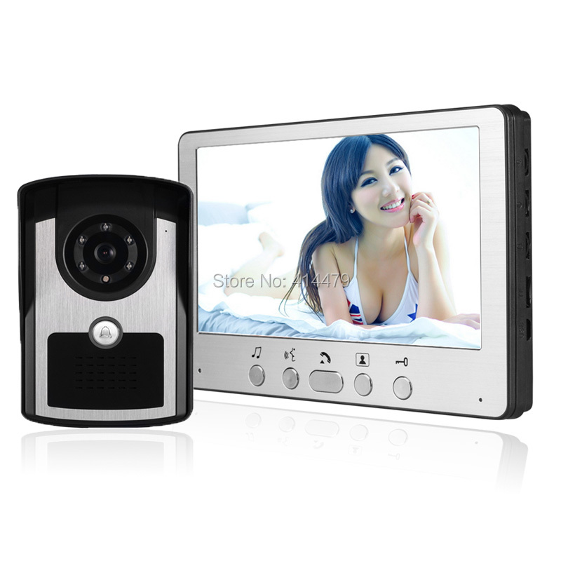 New Home Video intercom System Color Video door phone Doorbell 7 inch LCD Night Vision Camera homefong 4 inch monitor lcd color video record door phone doorbell intercom system night vision 1200tvl high resolution