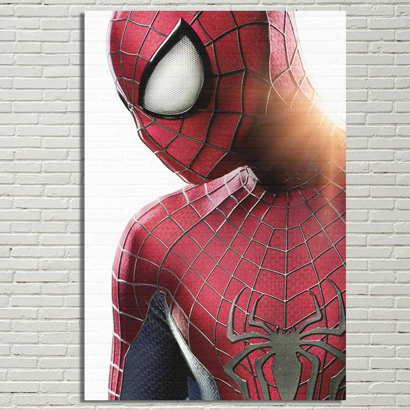 The Amazing Spider Man Poster Cool Super Hero Spiderman Poster Spider-Man Prints Home Room Decor Wall Art Silk Picture