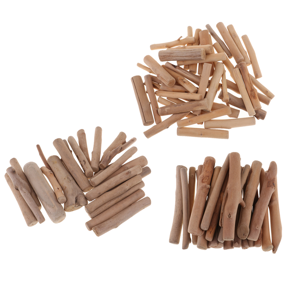 250g/bag Natural Driftwood Pieces Craft Sticks Small For Northumbrian Coastline Display Arts And Craft DIY Decorating, Creating