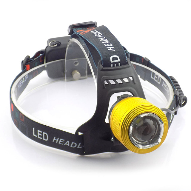 T6 Led Headlight Headlamp Zoomable 2000 Lumens Head Light Lamp Outdoor Frontal Flashlight For Fishing Hunting Climbing