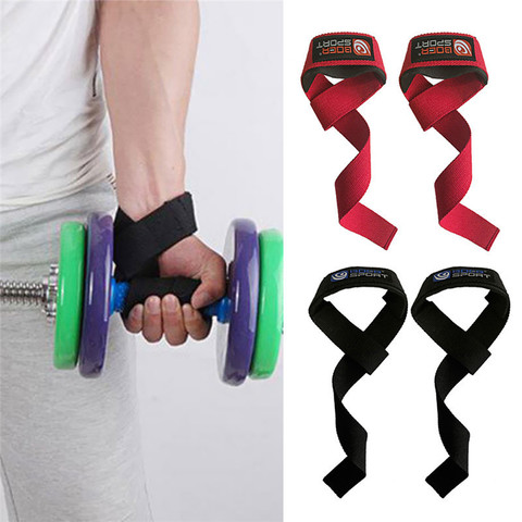 2pcs Weightlifting Hand Pad Wrist Wraps Straps Gloves Men Gym Support Lifting Grip Belt Training Fitness Weight Bodybuilding Karachi