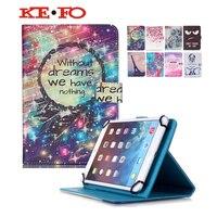 Für Amazonas Feuer HD 10 zoll Universal PU Folio Mappen-lederkasten tablet fall 10,1 universal + Film + stift KF553C