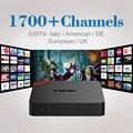 S905X Amlogic Quad Core Android 6.0 Smart TV CAIXA Inteligente Android Media Player Set Top Box + 1700 Canais de IPTV Livre Europa árabe