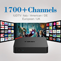 S905X Amlogic Quad Core Android 6.0 Smart TV CAJA Androide Elegante Media Player Set Top Box + 1700 Canales de IPTV Gratis Europa árabe