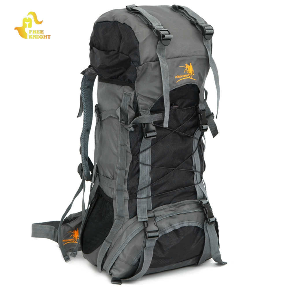 Free Knight FK008 Outdoor Camping Bag 3 Color 60L Nylon Water Resistant Backpack Unique Camping Mountaineering Bag Free Shipping free shipping unique coffee travel bag huge tote bag camping bag free ship 7165q