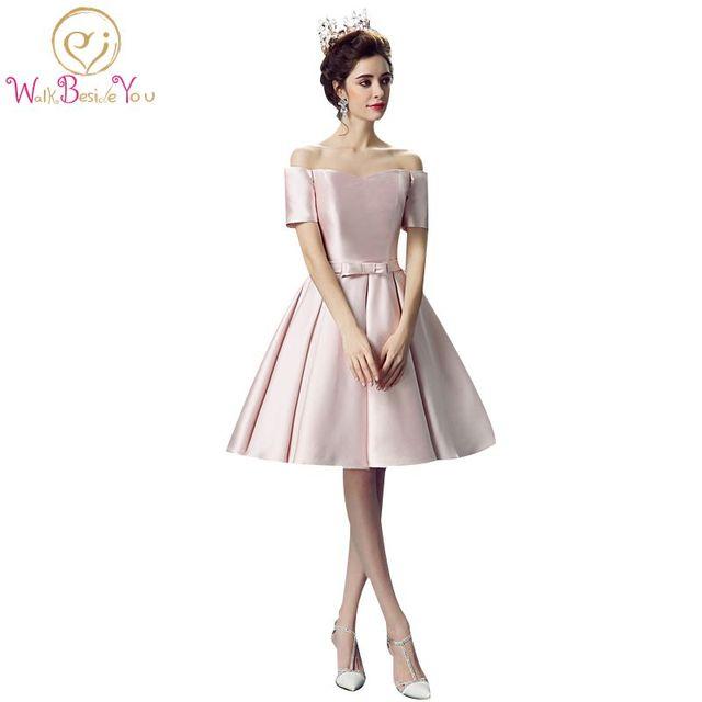 100% Real Images vestidos de festa 2018 Pink Prom Dresses Girl Puffy ...