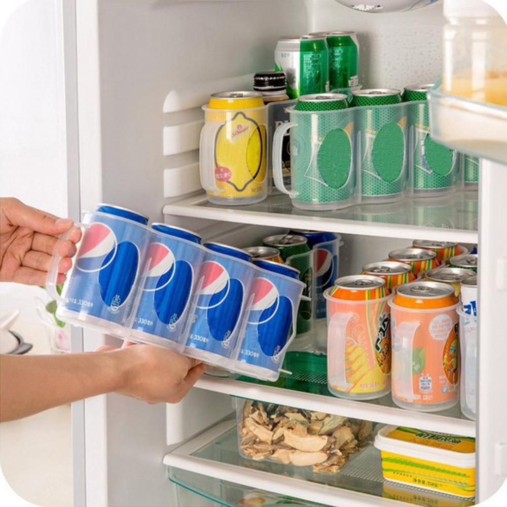 Refrigerator-Storage-Box Beverage Four-Case Organizer Space-Saving Kitchen-Accessories