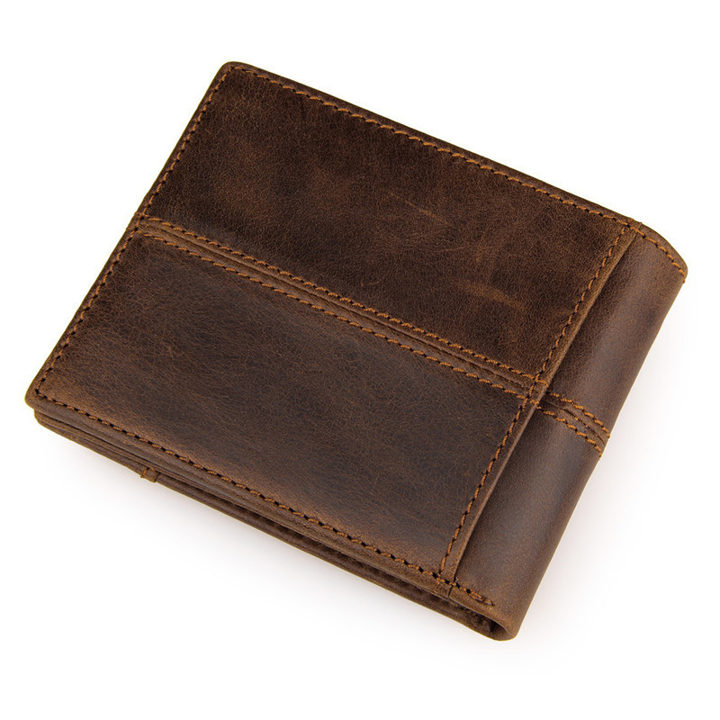 Large Capacity Multi-Card Bit Man Short Wallet 100% quality genuine Retro leather men wallets fashion splice purse dollar