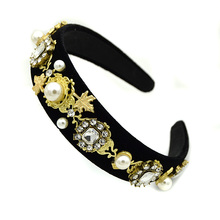 Woman Dolce Headband Crown Tiara Wedding Hair Accessories Crystal Baroque Hairband Jewelry diadema barroca Couronne tocado novia