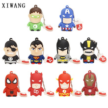 usb flash drive 2.0 dibujos pen 4gb 8gb 16gb 32gb 64gb 128GB Silicone superman memory stick free delivery Best gift