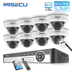 MISECU H.265 8CH 48V POE CCTV Sistema di 5.0MP 4.0MP IP POE a prova di Vandalo Impermeabile del Metallo Della Macchina Fotografica Video di Sorveglianza di Sicurezza kit