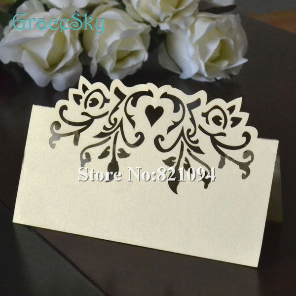 50 Free Shipping Laser Cut Elegant Vine Love Heart Design Paper Place Name Seat Invitation Card Wedding Party Table Decoration On Aliexpress Com