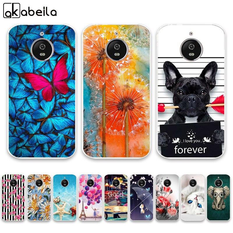 Case For Moto E4 Cases Silicone Bumper For Motorola Moto E4 XT1766 XT1763 XT1762 E (4th Gen.) Eu Version Covers Flamingo Coque