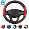 DERMAY Universal 38cm PU Leather Car Steering Wheel Cover for Ford focus 2 3 BMW e46 e39 Volkswagen Toyota Chevrolet cruze Opel