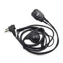 Clip DP1400 Earpiece Headset Walkie-Talkie Radio Security-Guard Motorola CP200 GP300