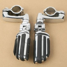 Motorcycle 1-1/4 32mm Highway Engine Guard Bar Foot Pegs For Harley Touring Glide Honda Shadow ACE Aero Spirit 750 1100