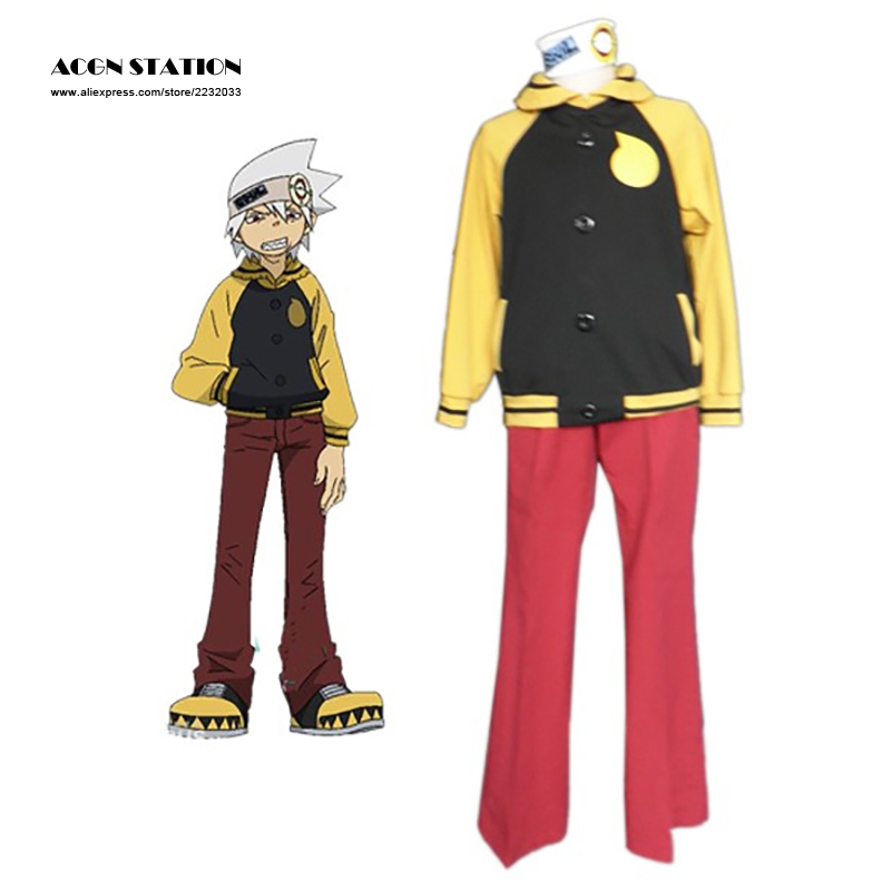 2018 Free Shipping Cosplay Anime Costume Products Soul Eater Evans Cosplay For Men Costume