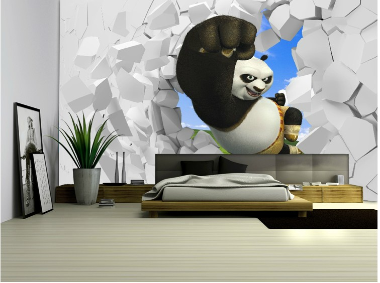 3D stereoscopic large mural custom wallpaper living room TV backdrop wall paper bedroom wall painting cartoon film Kung Fu Panda vintage beautiful mahogany living room large mural wallpaper living room bedroom wallpaper painting tv background wall wallpaper