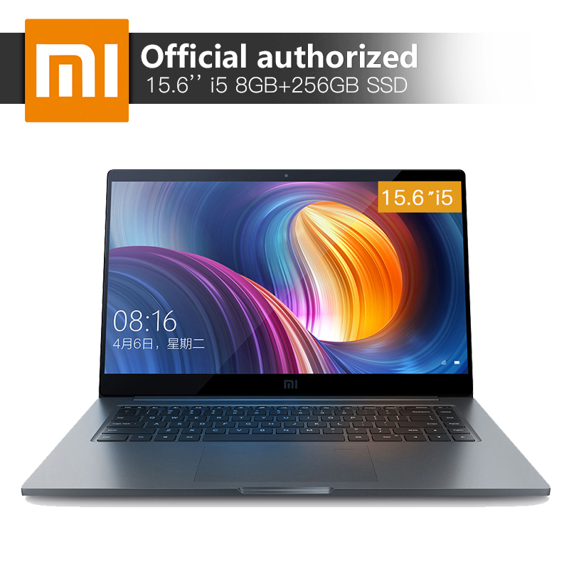 Xiaomi Notebook Pro 15.6 ''8 gb RAM 256 SSD Intel Core i5-8250U Quad Core Ordinateur MX150 2 gb GDDR5 reconnaissance d'empreintes digitales Portable