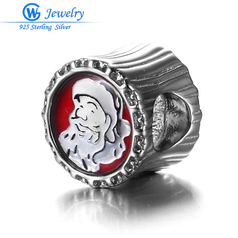 925 Sterling Silver Santa Claus Collection Beads Fit Pandora Charms Original Bracelet Jewelry Makings Jewelry GW Jewelry H60
