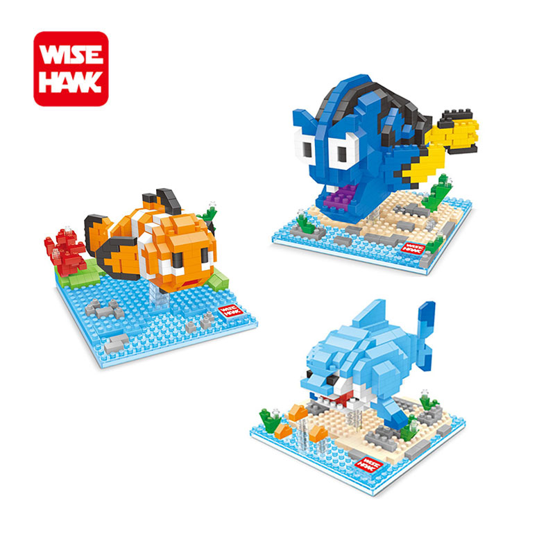 Full set 3pcs wholesale nano blocks Anime Finding Dory Nemo mini funny action figures building bricks educational toys for kid. loz diamond blocks figuras classic anime figures toys captain football player blocks i block fun toys ideas nano bricks 9548