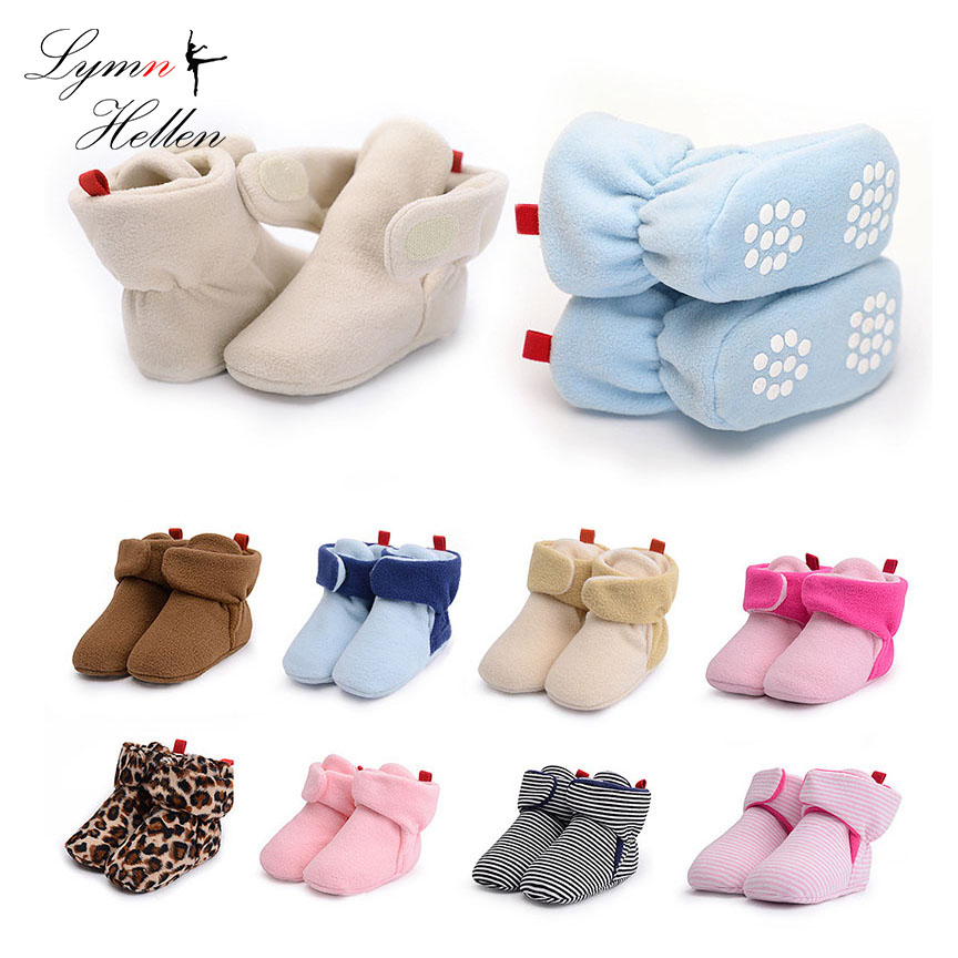 Baby Booties Warm Prewalker Infant Toddler Walkers Winter Fleece Soft Bottom Snowfield Boot Newborn Girls Crib Shoes Play Mats