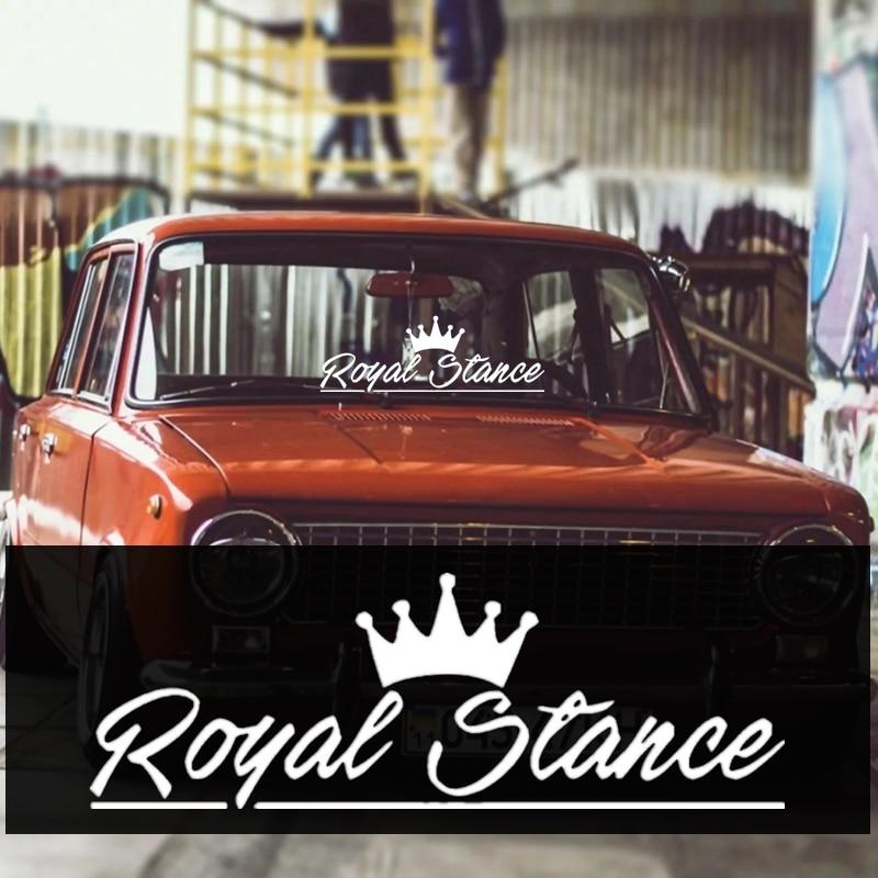 CK2832#45*15cm Royal Stance Funny Car Sticker Vinyl Decal Silver/black Car Auto Stickers For Car Bumper Window Car Decorations