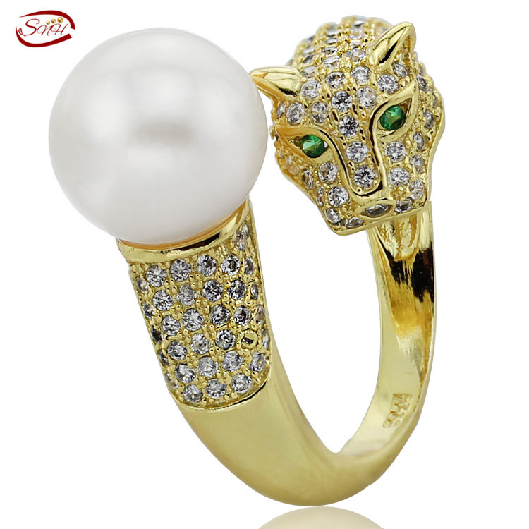 AA Fashion Natural Real Freshwater pearl Rings 925 Silver rings for women weddings jewelry