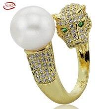 AA Moda Natural de Agua Dulce Verdadera perla Anillos de Plata 925 anillos de bodas joyería de las mujeres