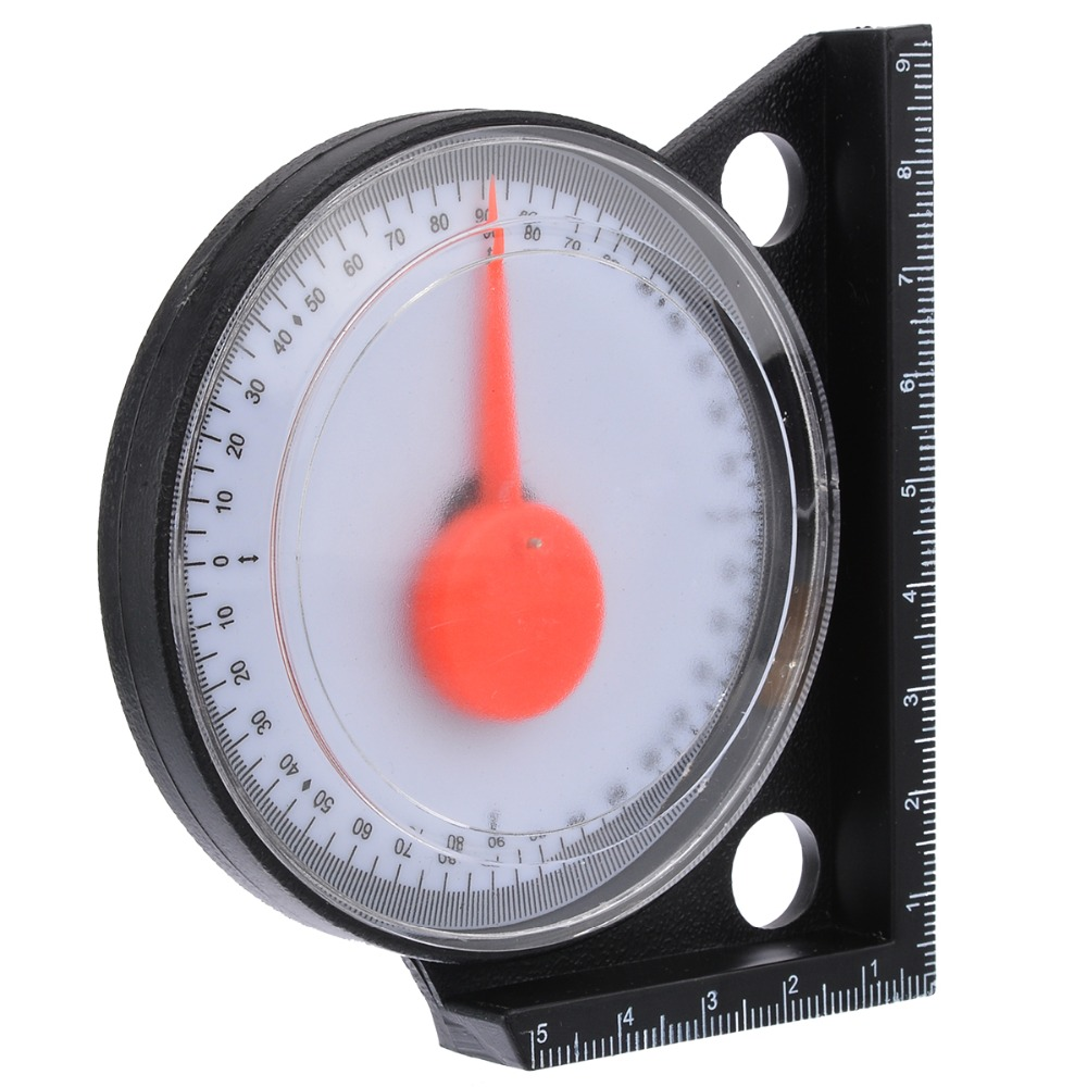 ABS Horizontal Gauge Pointer Angle Gauge Inclinometer With Black Magnetic Base