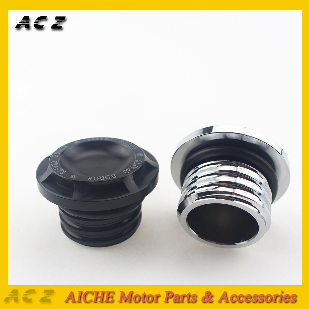 One Size HardDrive Pop-Up Screw-In Smooth Vented Black Gas Cap for Harley Davidson 1996-