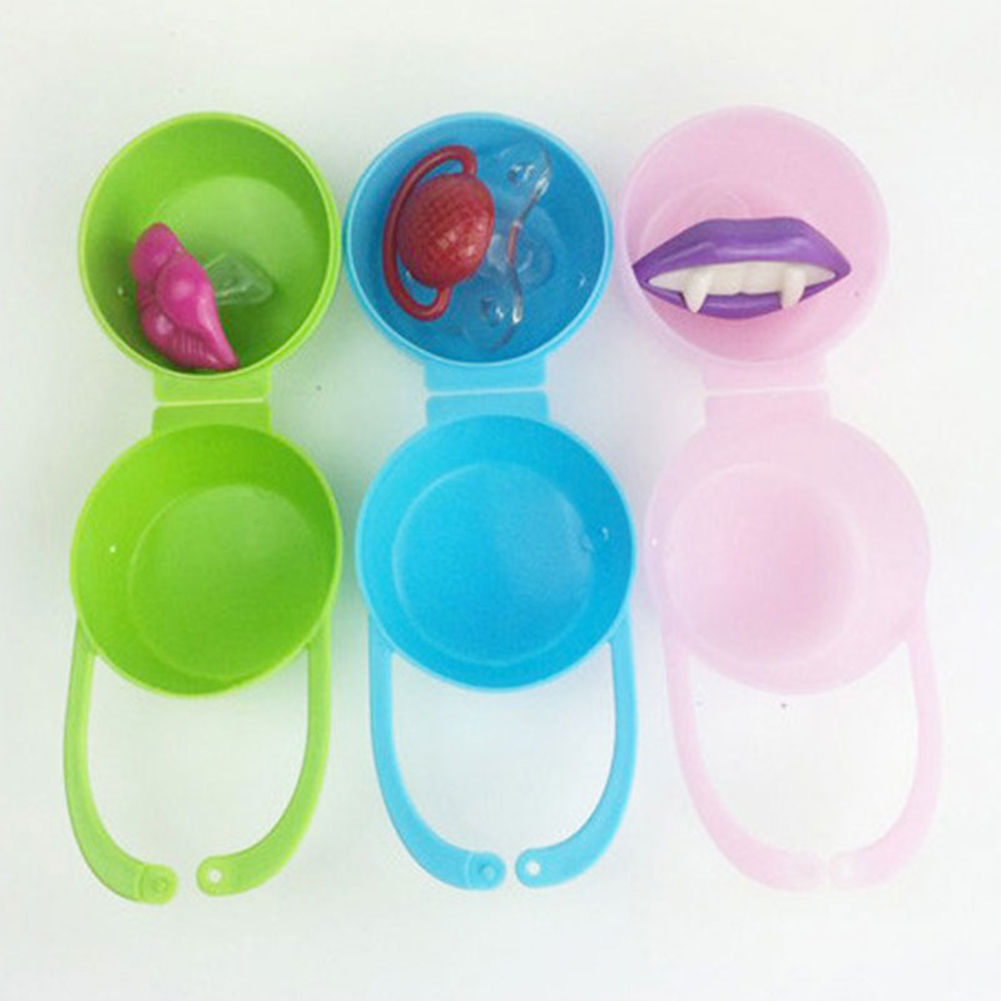1PC  Baby Soother Box Pacifier Container Holder Travel Storage Case Safe PP Plastic Box #20