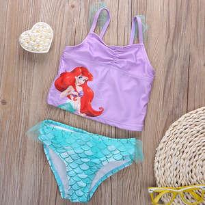 b810bfcb8a Cute 2 PCS Swims Swimming Bathing Beach Swimwear it Kids Baby Little Girl  Mermaid