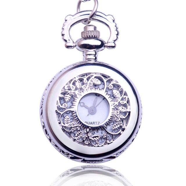US $3.67 |Fancy Fancy Dames Mode Authentieke Antieke Pocket Ketting Retro Quartz Horloge Zilveren Horloge Drop Verzending in Fancy Fancy Dames Mode