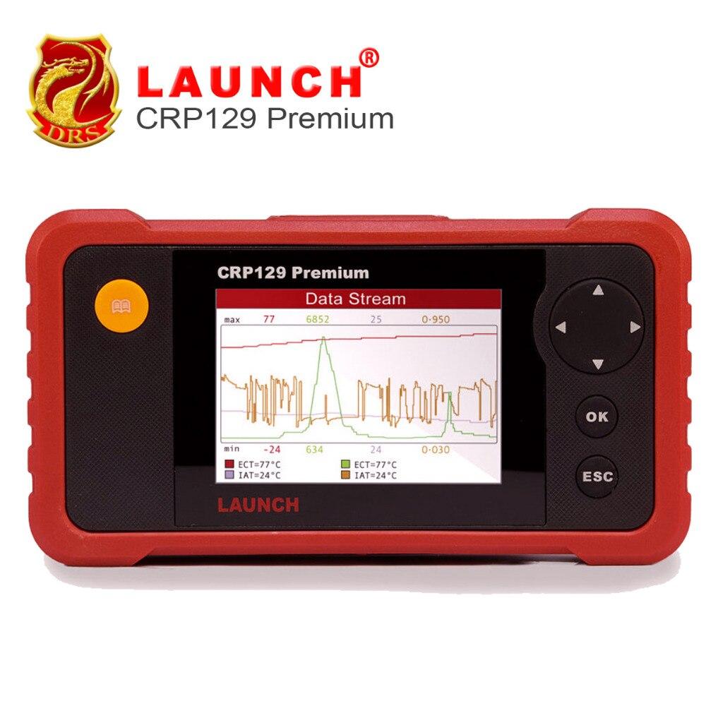 Цена за 2016 новейшие старт Creader Профессиональный 129 Премиум OBD2 Code Reader Сканер CRP 129 RUS/AT/abs/SRS /EPB масла Услуги Свет Сброс