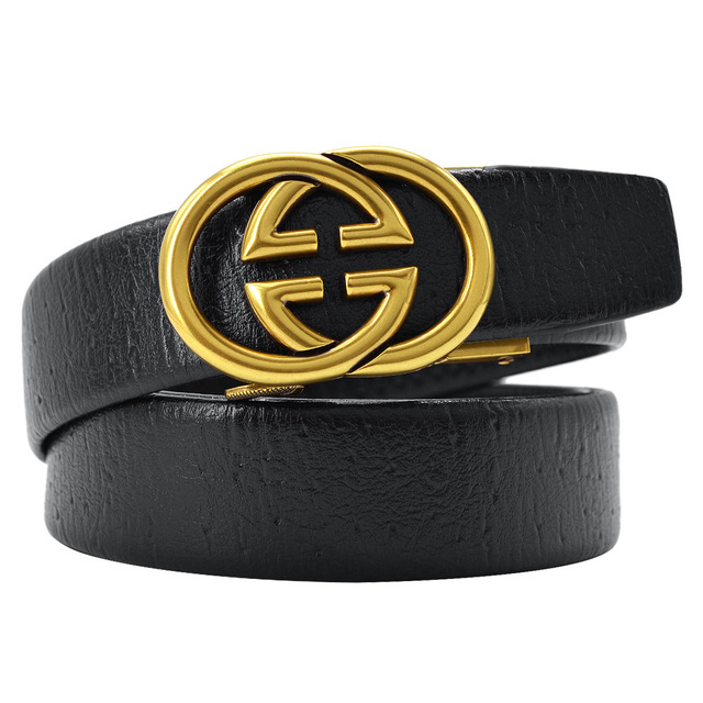 diseñador de moda 4d38e 91e4e En venta Cinturón de cuero para hombre con logotipo G doble ...