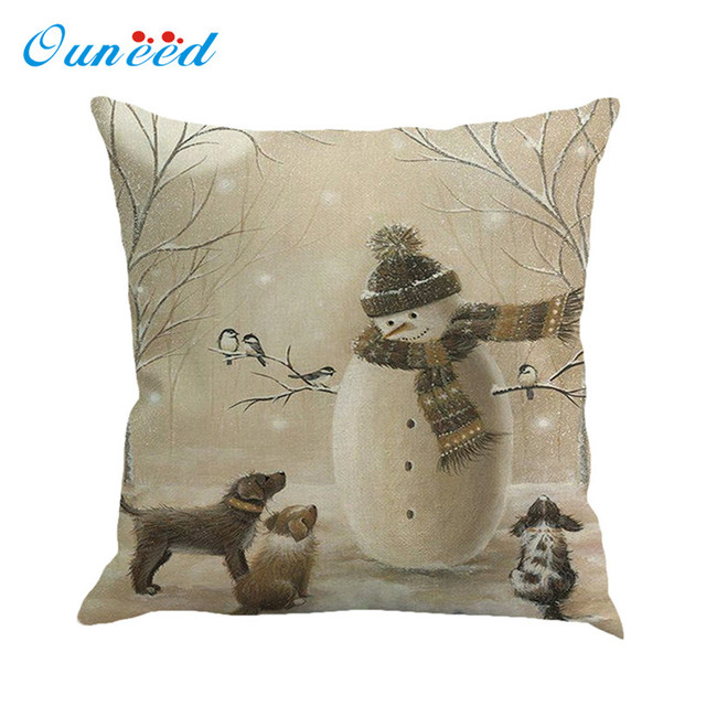 45x45 cm Fodere per Cuscini Vintage Di Natale Stampa decorativa cuscini capa de