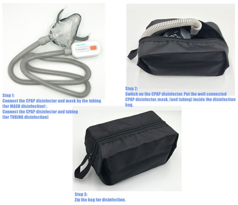 CPAP Disinfection Bag Respirator Nasal Full Face Mask Tubing Hose Sterilization Cleaning Use (10)