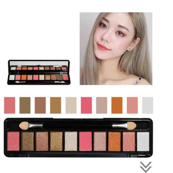 10 Colors ShimmerMatte Eyeshadow Palette Make Up Waterproof Pigments Glitter Eye Shadow Makeup Cosmetics Eye Shadow