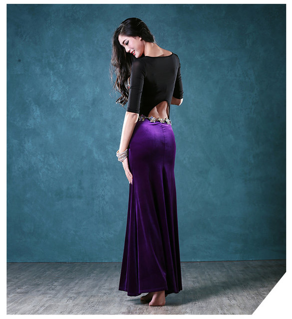 Online Shop 2018 New Sexy Women Bollywood Dance Costumes 2Pcs ... 270f2d7eccc6