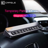 Cafele Temporary Parking Card holder Magnetic hide Telephone Number Card Plate Parking Card Automotive Interior Accessories