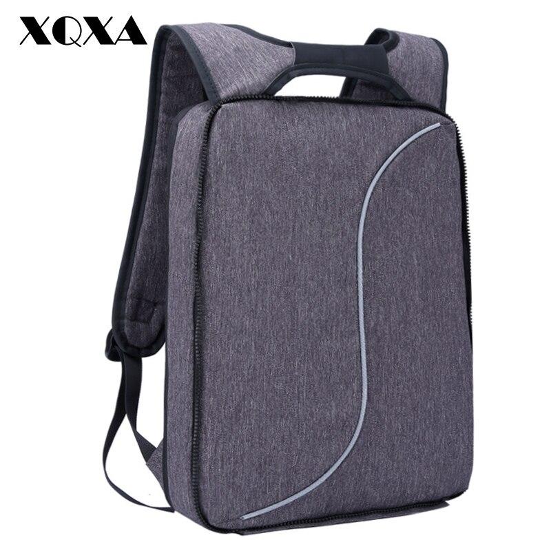 XQXA Light Slim Backpack Men Lightweight 15.6 Inch Laptop Notebook Backpacks Women Waterproof Thin Business  Anti Theft Backpack slim xl backpack